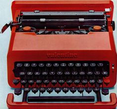 Valentine typewriter, produced by Olivetti and designed by Ettore Sottsass Jr. with Perry A. King, 1969