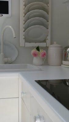 repurpose a shutter as a plate rack!