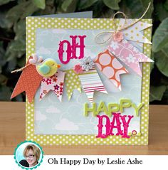 LOVE the banners and layers!  Leslie ROCKS!! card garland, garland banner, banner garland, amaz birthday, craft idea, homemade cards, american crafts, banner card, birthday ideas