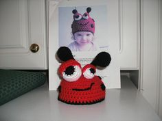 Ravelry: Project Gallery for Ladybug crochet beanie (44) includes 5 sizes from newborn to adult pattern by Luz Mendoza