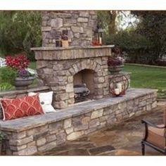 Outside fireplace :)