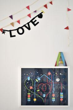 La habitación infantil de Antoine y Leonor