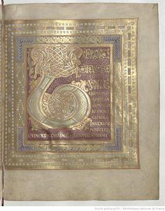 Psalterium Caroli Calvi, f. 5r, VIII cent. Paris, Bibliothèque nationale de France.