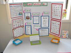 Writing station for Daily 5!  Would be really easy to adapt for upper elementary.