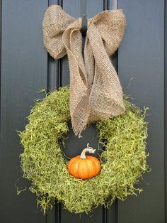 front door decor, pumpkin decorations, holiday home decor, front doors, fall halloween, fall wreaths, burlap bows, autumn wreaths, fallhalloween