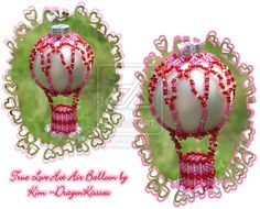 BEADED HOT AIR BALLOONS:
