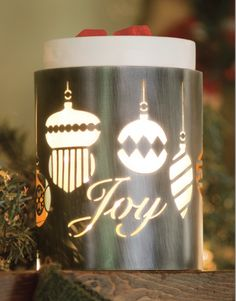 Joy to the World Full-Size Scentsy Warmer Wrap - Bright baubles glow from within in Joy to the World.