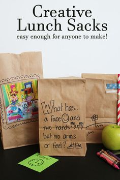 Creative Lunch Sacks - easy enough for anyone to make