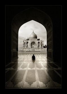 Cool shot of the Taj Mahal #india