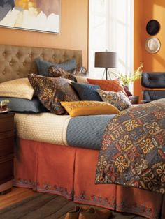 Lovely rich colours for a Moroccan bedroom theme