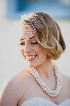 Statement Necklace with Swarovski Pearls and crystals by One World Designs Bridal Jewelry