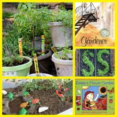 {Do You Garden with the Kids?} 30 great hands-on planting activities and garden crafts for families - great way to connect kids to how their food is grown.