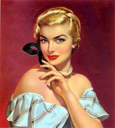 december, vintage illustrations, art, lou shabner, mask