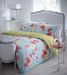 Blue 'Rose' bedding set - Absolutely love this.