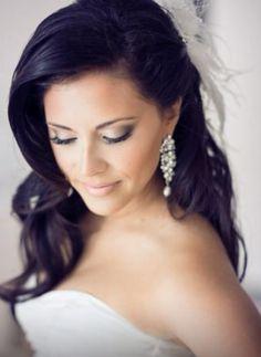 Bridal makeup, soft smokey eyes