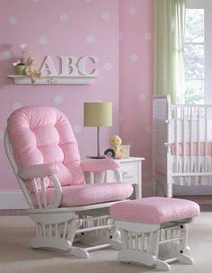 pink polka dot wall
