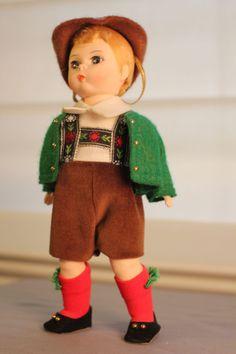 "Charming Austrian bountry doll, Madame Alexander (boy doll). 8"" #vintage 1980s,  Buy: https://www.etsy.com/listing/167165239/madame-alexander-8-austria-boy-doll?ref=shop_home_active_1"