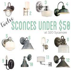 12 sconces for under $50