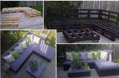 Great idea for cheap garden furniture