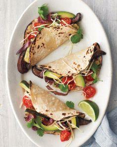 10 Most-Pinned Mexican Recipes for Cinco de Mayo // Portobello-and-Zucchini Tacos Recipe