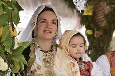 Abito tradizionale Sardegna. Muravera