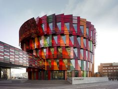 Let's spin you around so we can see all of your colorful sides.   (Chalmers Campus Lindholmen in Sweden by Wingardh Arkitektkontor via)