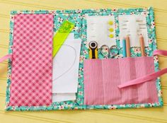 This quick-to-make project keeps sewing basics organized for quilters on the go.