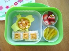 Bee Bento Lunch in a yubo lunchbox | to remember to bee nice, bee kind and bee respectful in school :)