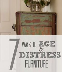 There a million different ways to age a piece a piece. I have used probably a dozen different techniques and products to achieve my desired finishes, so today I thought I would share with you 7 ways that I age and distress furniture. Paint Remover This technique works if the piece has been repainted numerous …