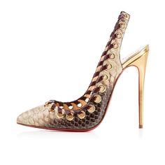 """Shoe du Jour"" 10.29.14 Christian Louboutin ""Ostri Sling"" Python Slingback Pumps « Shoefessional"
