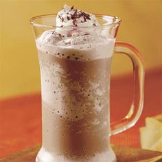 Mocha Frappé -- I'd use skim instead of 2% & splenda/stevia instead of sugar