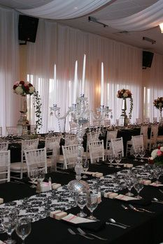 candelabras and flowers centerpieces