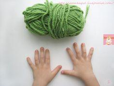 Вязание на пальцах для детей.