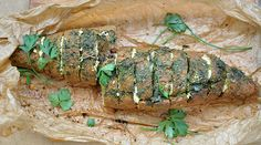 Whole grain stuffed bread with cheese and herbs. DELICIOUS and so easy to make! www.gourmandelle.com