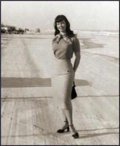 Bettie Page on Daytona Beach