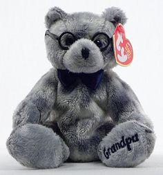 Grandfather - bear - Ty Beanie Babies