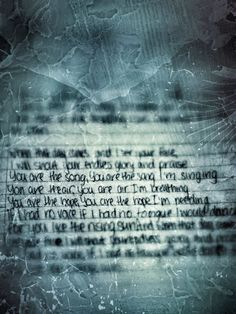 The song you are by Colton Dixon