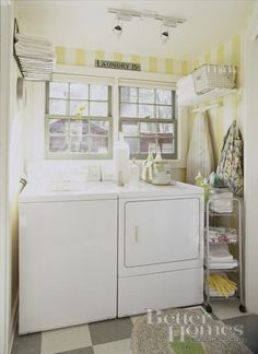 Laundry rooms do not have to be ugly!