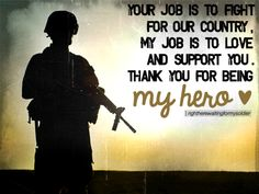I will support you in all you do.  - MilitaryAvenue.com