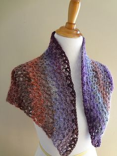 Kristen Shawl by Jennifer Dickerson - crochet pattern free