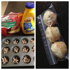 breakfast muffins, sausages, spray, mini muffins, finger foods