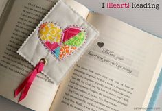 I Heart Reading Bookmark