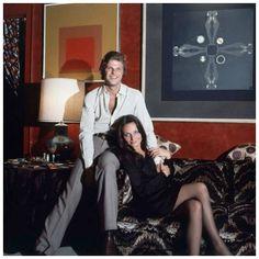 Egon & Diane Von Furstenberg in their NYC apartment, January 1972.