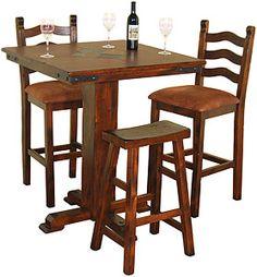 pub tabl, squares, durango squar, pub dining tables, kitchen, tabl set, slate top, squar slate