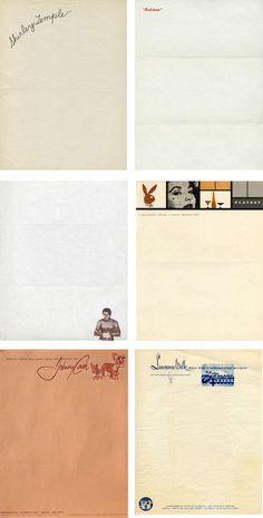 celebrity stationery: via annie clark designer
