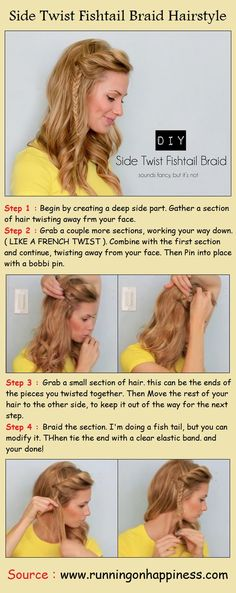 Hair | How to; side twist and fishtail braid