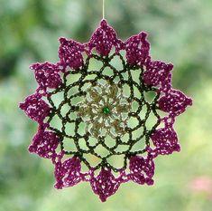 Dreamcatcher mandala crochet lace hanger by SparklingKnitwear