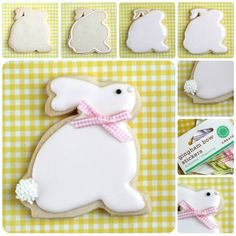 easter bunny cookies via sweetopia