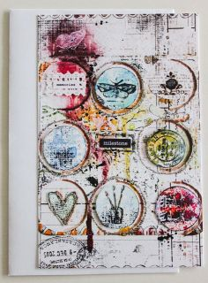 mixed media card by