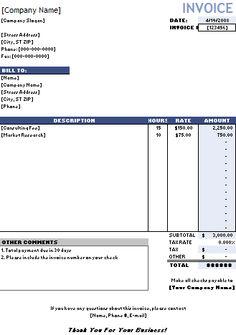 lawn service invoice template, Invoice templates